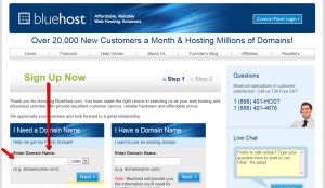 bluehost2 300x174 How to setup a blog in 3 minutes