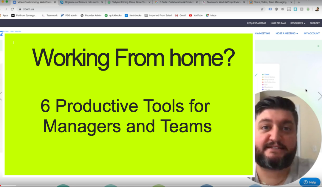 6 Productivity Tools for Managers and Teams Working at Home